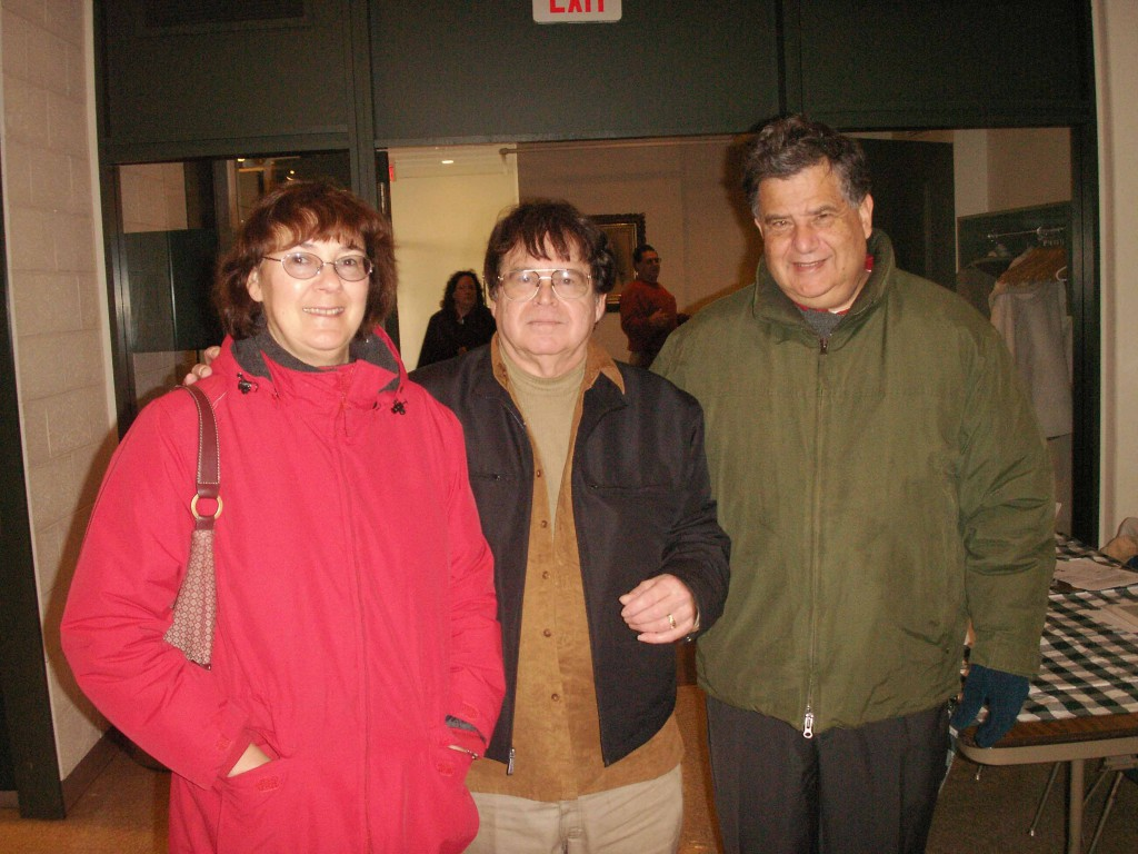 Dan Speers (center) and Haverhill's Mayor Fiorentini (right)
