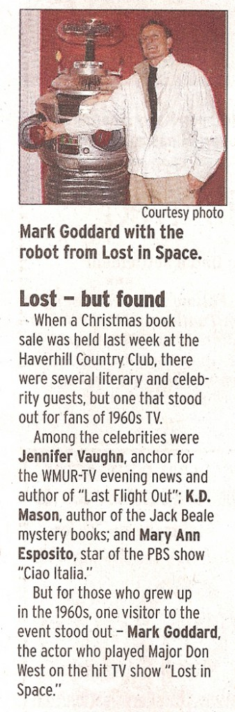Newspaper story about the 2011 New England Authors Expo Christmas book sale