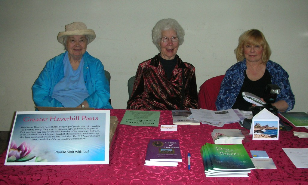 Greater Haverhill Poets, Blair Woodman, Marylin Barr & Anna Soria