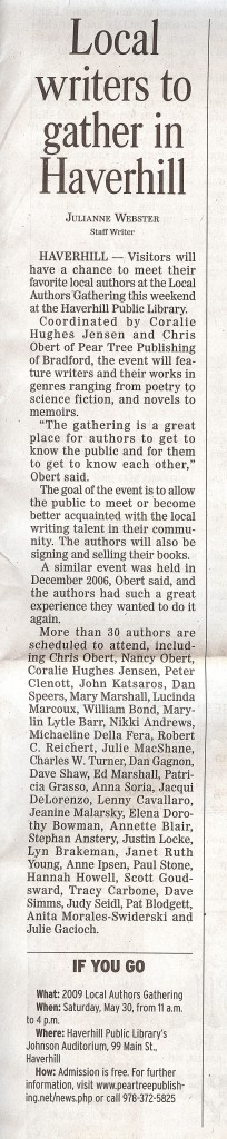 Newspaper story for the 2009 NEAE book sale