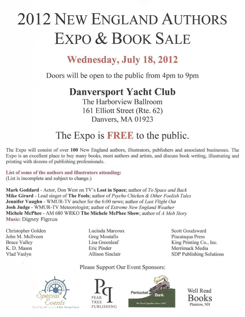 Flyer #1 for the 2012 New England Authors Expo