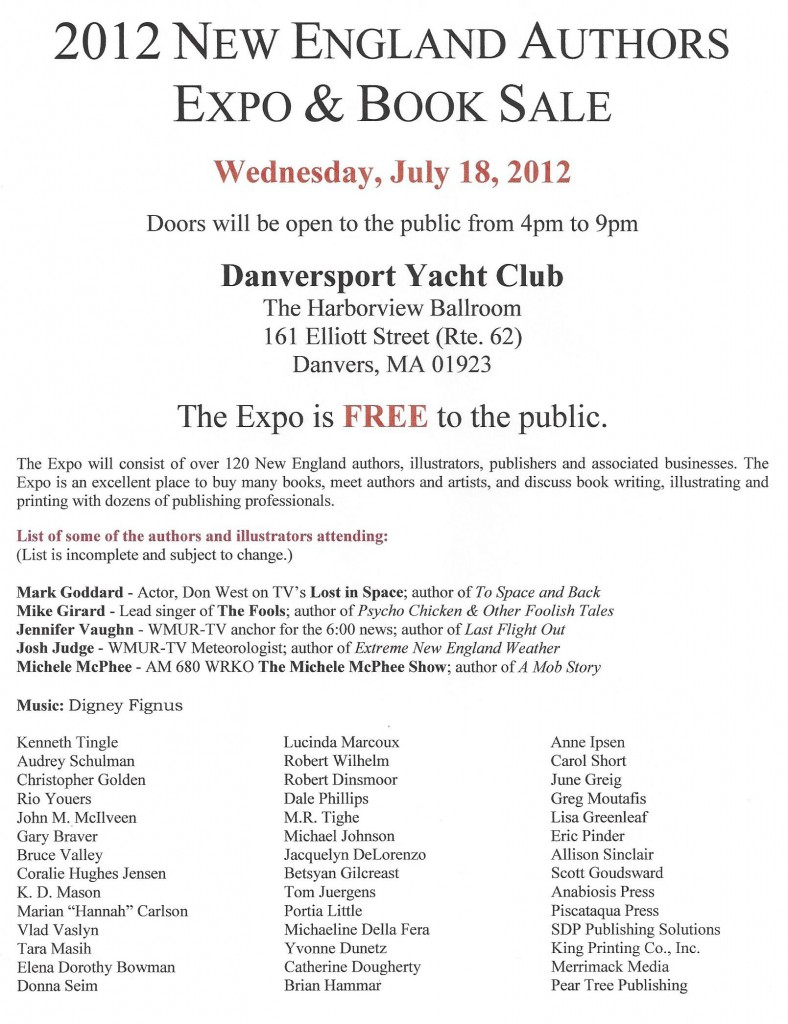 Flyer #2 for the 2012 New England Authors Expo