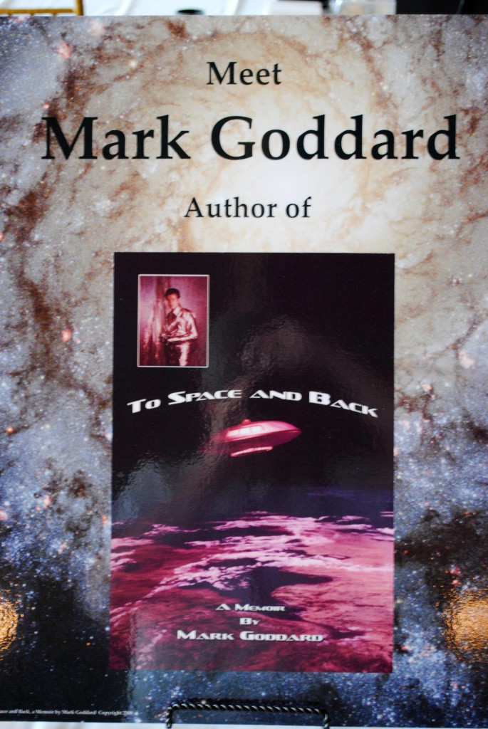 Sign for author Mark Goddard