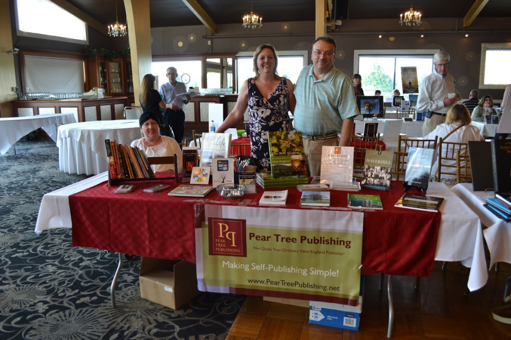 Nancy and Chris Obert (founders of the New England Authors Expo) at the Pear Tree Publishing table