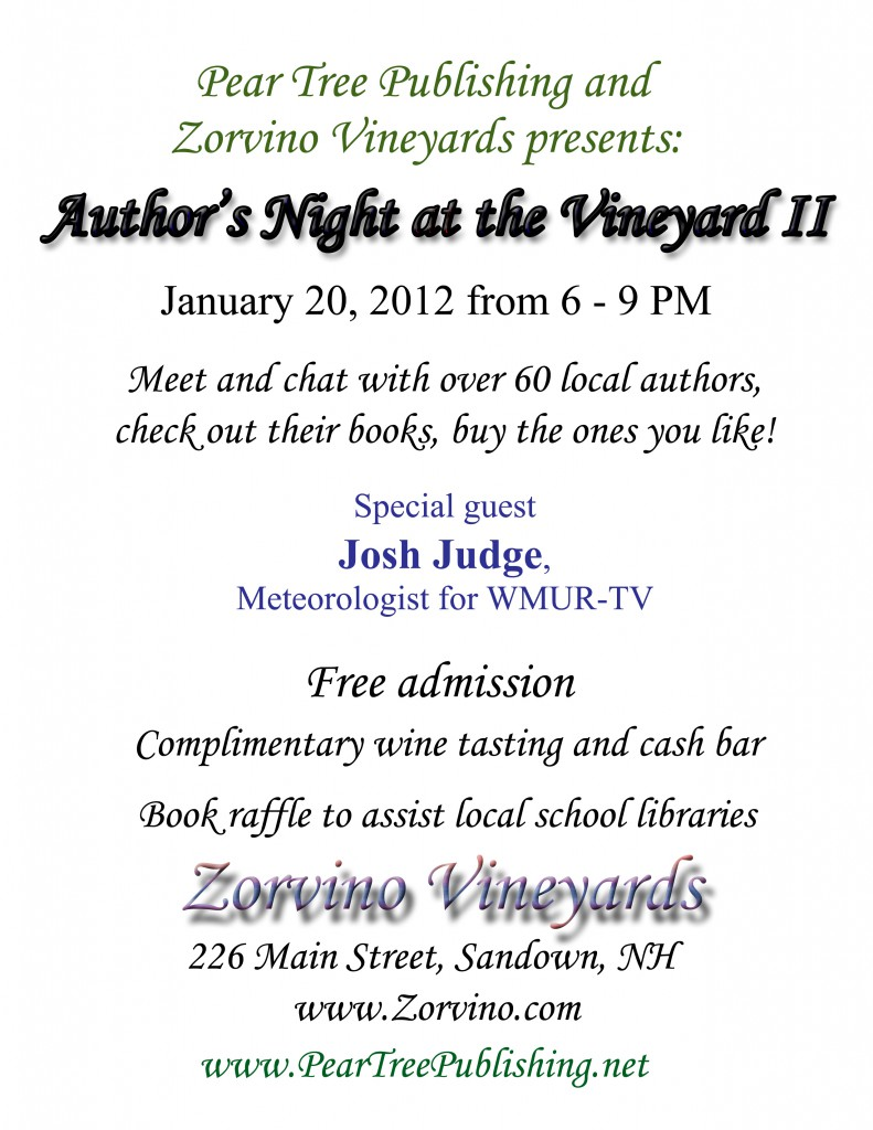 Flyer for the Author's Night at the Vineyard II