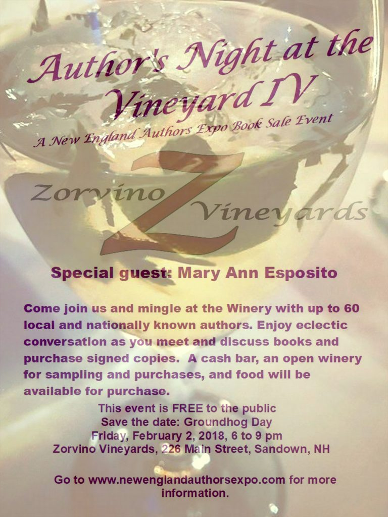 2018 Author's Night at the Vineyard